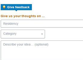 Image of Tell Us What You Think feedback form