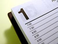 Photo of a paper calendar